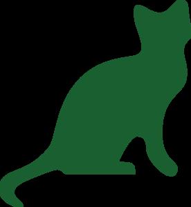 Zelená mačka logo